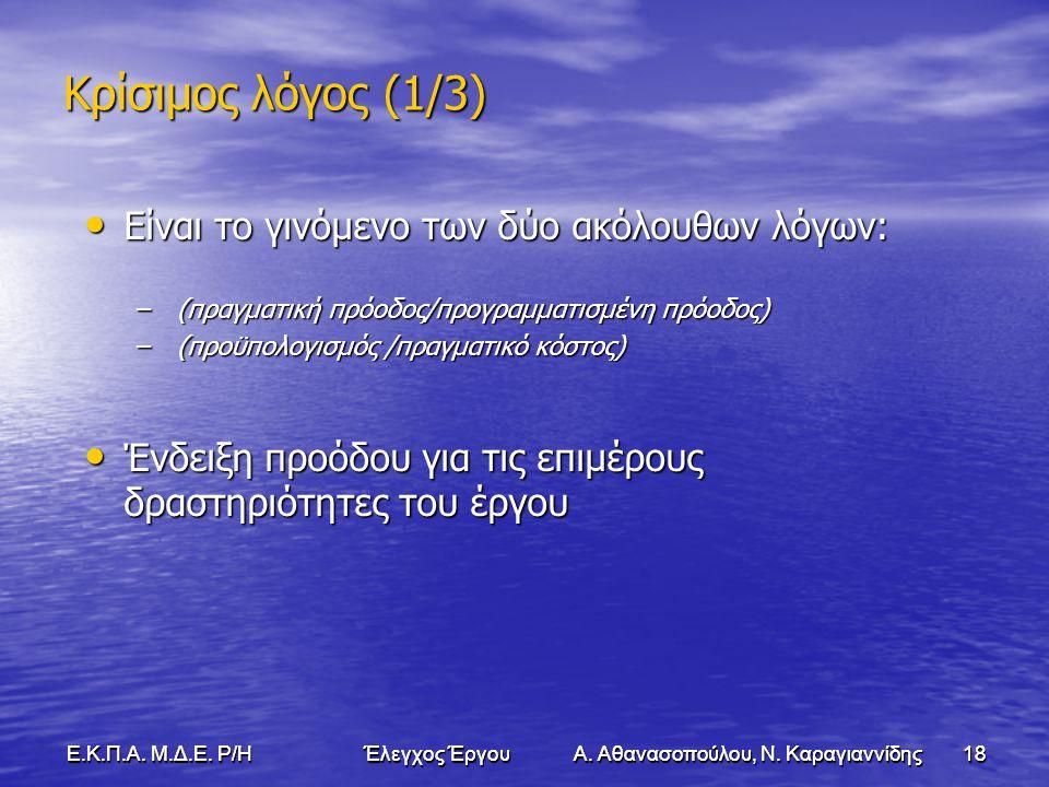 18Ε.Κ.Π.Α. Μ.Δ.Ε. Ρ/Η Έλεγχος Έργου Α. Αθανασοπούλου, Ν.