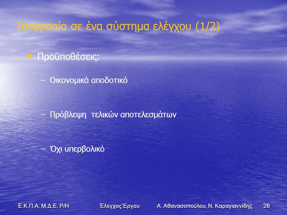 26Ε.Κ.Π.Α. Μ.Δ.Ε. Ρ/Η Έλεγχος Έργου Α. Αθανασοπούλου, Ν.