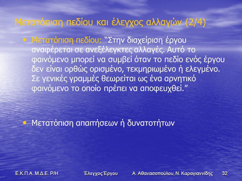 32Ε.Κ.Π.Α. Μ.Δ.Ε. Ρ/Η Έλεγχος Έργου Α. Αθανασοπούλου, Ν.