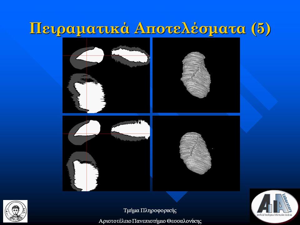 Τμήμα Πληροφορικής Αριστοτέλειο Πανεπιστήμιο Θεσσαλονίκης Πειραματικά Αποτελέσματα (5)