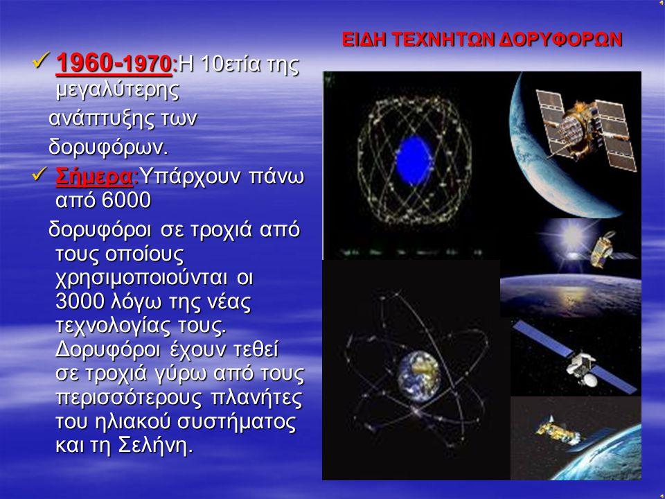 1957:Διεθνές γεωφυσικό έτος. Εκτοξεύεται ο 1957:Διεθνές γεωφυσικό έτος. Εκτοξεύεται ο πρώτος τεχνητός δόρυ- φόρος της ιστορίας, ο Σοβιετικός Sputnik 1