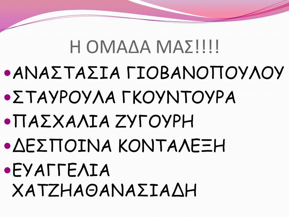 Η ΟΜΑΔΑ ΜΑΣ!!!! ΑΝΑΣΤΑΣΙΑ ΓΙΟΒΑΝΟΠΟΥΛΟΥ ΣΤΑΥΡΟΥΛΑ ΓΚΟΥΝΤΟΥΡΑ ΠΑΣΧΑΛΙΑ ΖΥΓΟΥΡΗ ΔΕΣΠΟΙΝΑ ΚΟΝΤΑΛΕΞΗ ΕΥΑΓΓΕΛΙΑ ΧΑΤΖΗΑΘΑΝΑΣΙΑΔΗ