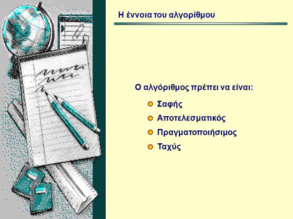 Αναπαράσταση των αλγορίθμων Με Ψευδοκώδικα (χρησιμοποιούνται ορισμένες λέξεις οι οποίες συνήθως αντιστοιχούν σε λέξεις της γλώσσας μας.