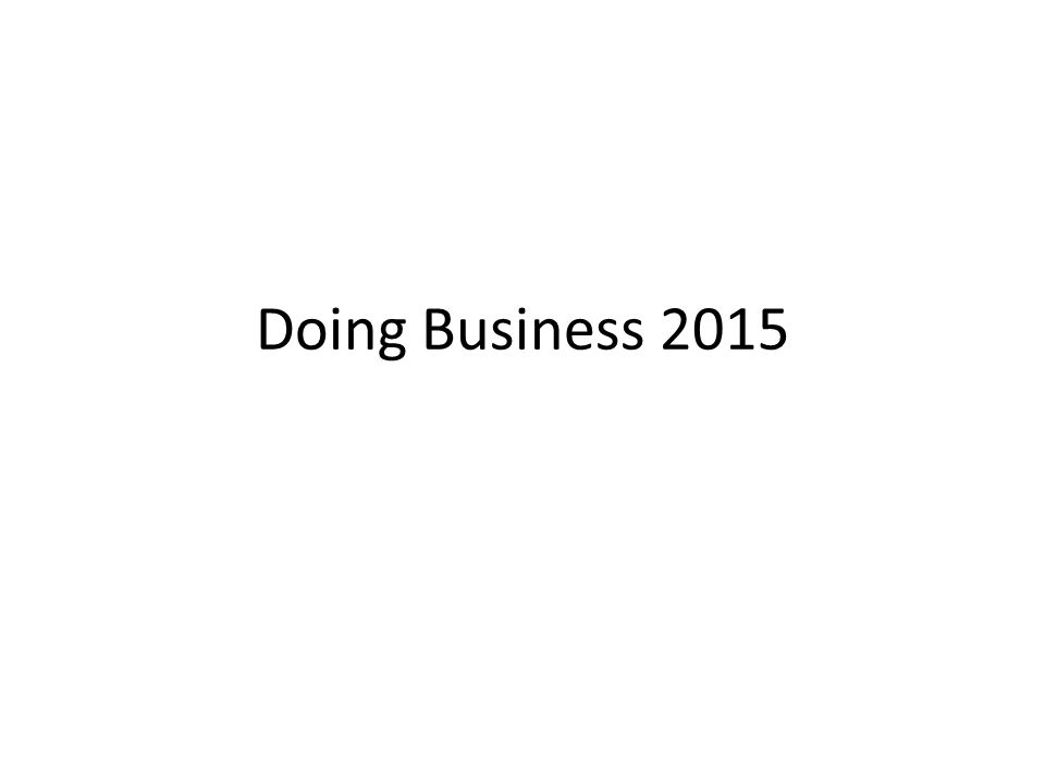 Doing Business 2015