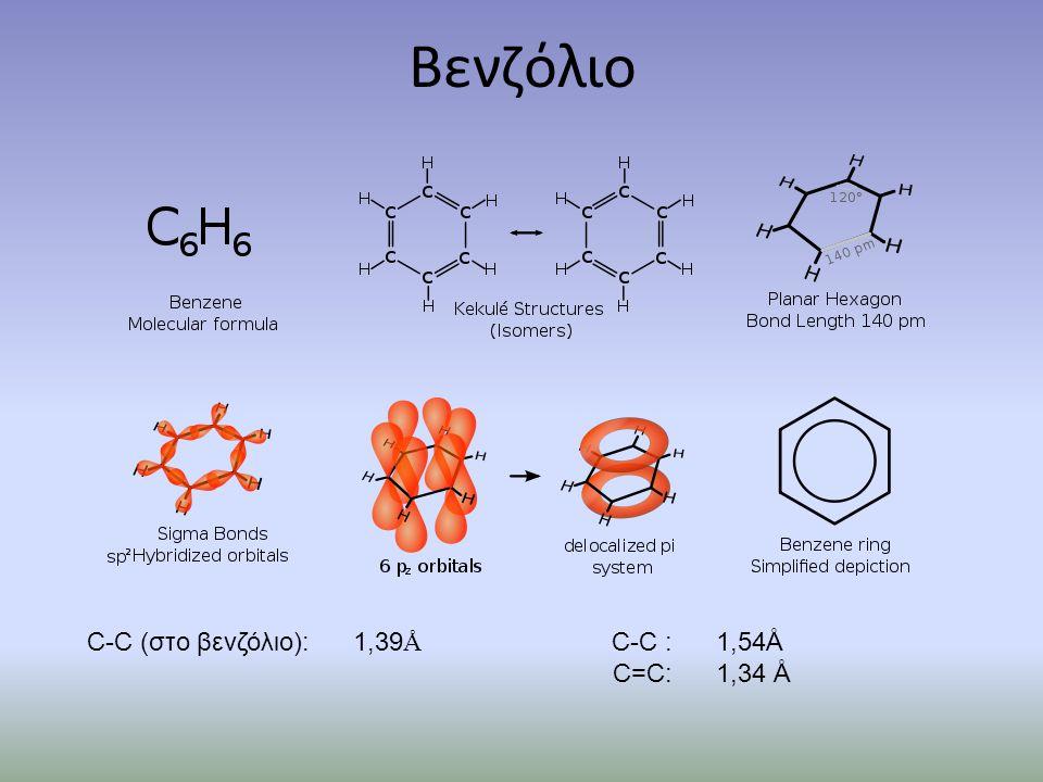 Νίτρωση βενζολίου HNO 3 + H 2 SO 4  + NO 2 + HSO 4 - + H 2 O