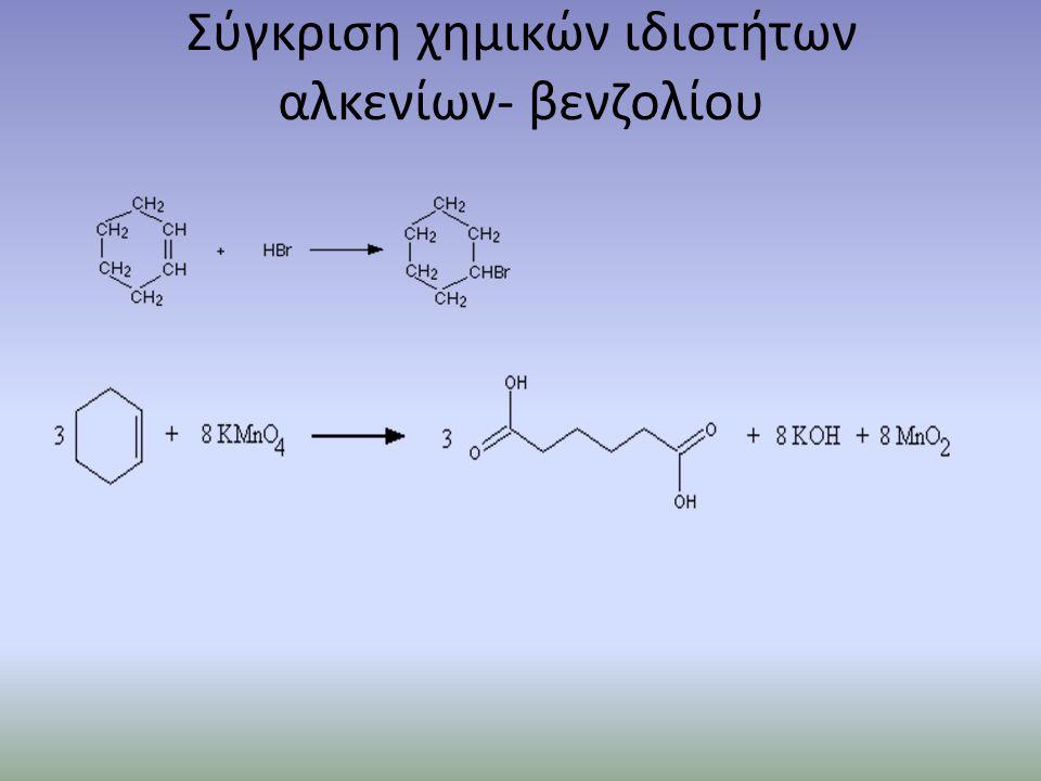 Αρωματικότητα- Κανόνας Hückel Κριτήρια αρωματικότητας Να είναι κυκλικό και συζυγιακό μόριο, δηλαδή να αποτελείται από εναλλάξ απλούς και διπλούς δεσμούς.