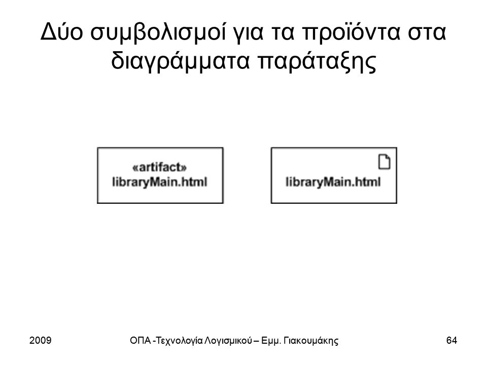 2009ΟΠΑ -Τεχνολογία Λογισμικού – Εμμ.Γιακουμάκης642009ΟΠΑ -Τεχνολογία Λογισμικού – Εμμ.