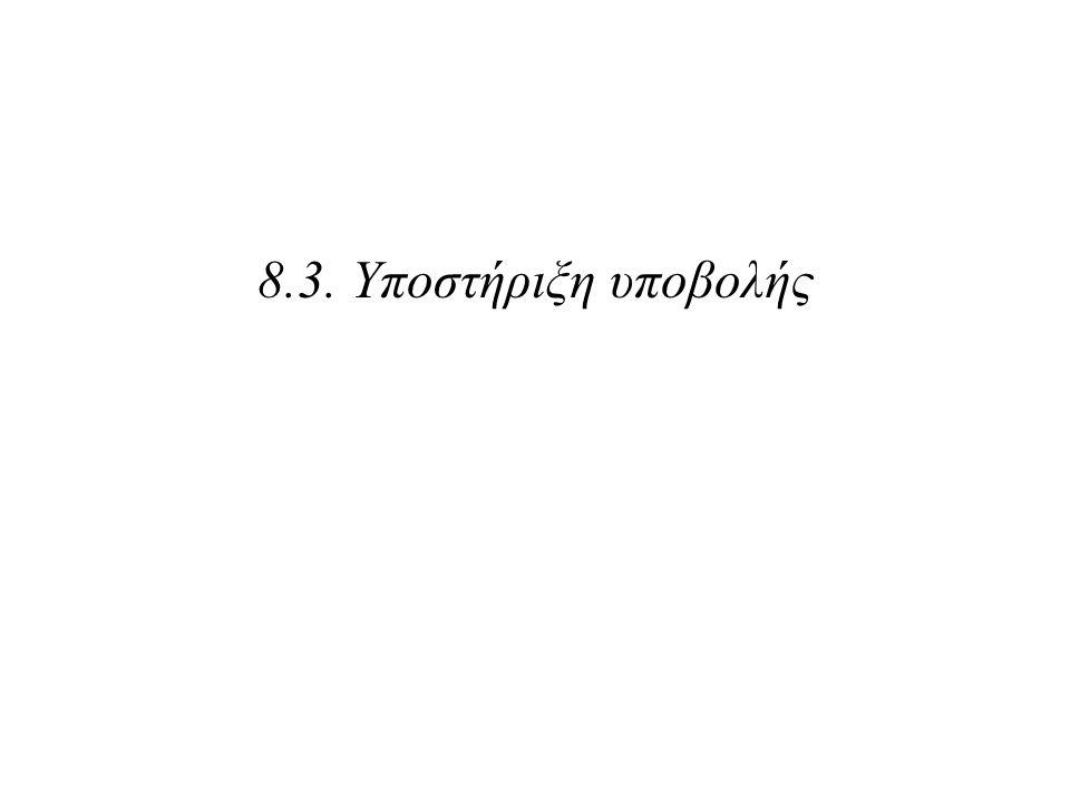 8.3. Υποστήριξη υποβολής