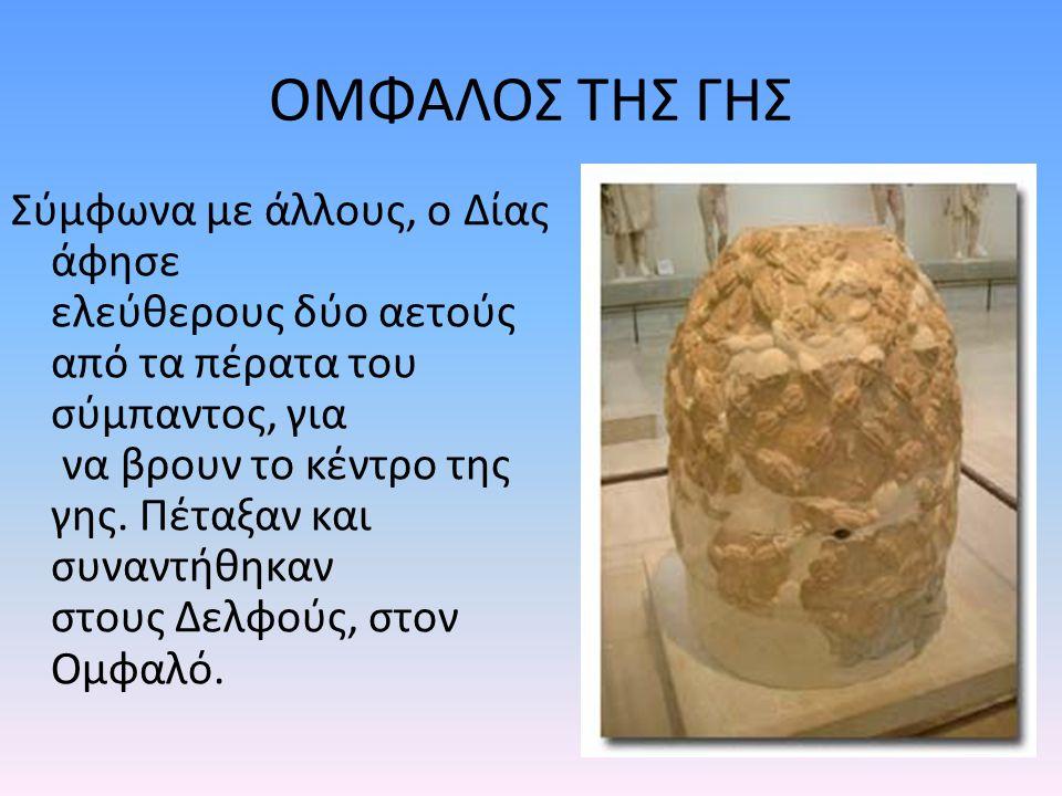 Ο ΟΜΦΑΛΟΣ ΤΗΣ ΓΗΣ Ο Ομφαλός των Δελφών είναι ο διασημότερος Ομφαλός, σε όλο τον κόσμο.