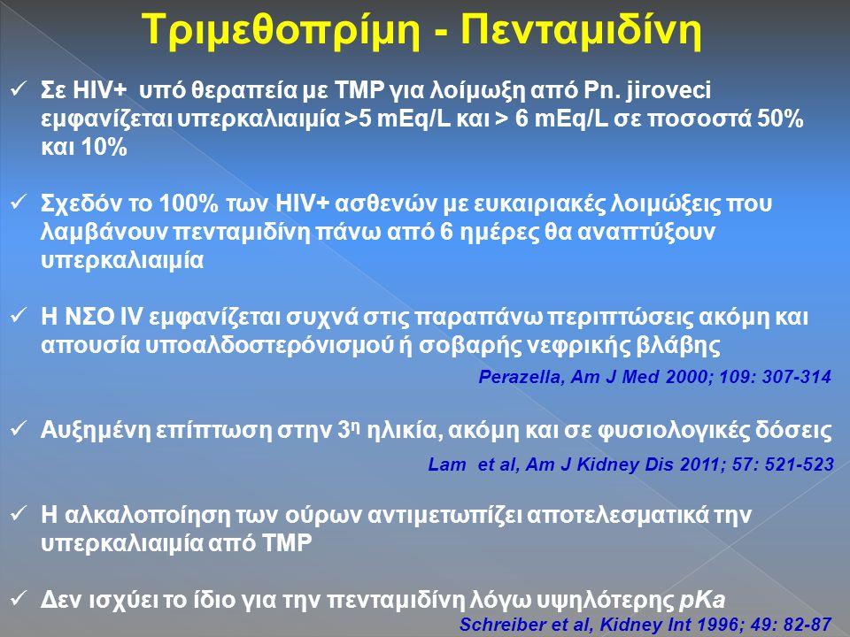 Τριμεθοπρίμη - Πενταμιδίνη Σε HIV+ υπό θεραπεία με TMP για λοίμωξη από Pn.