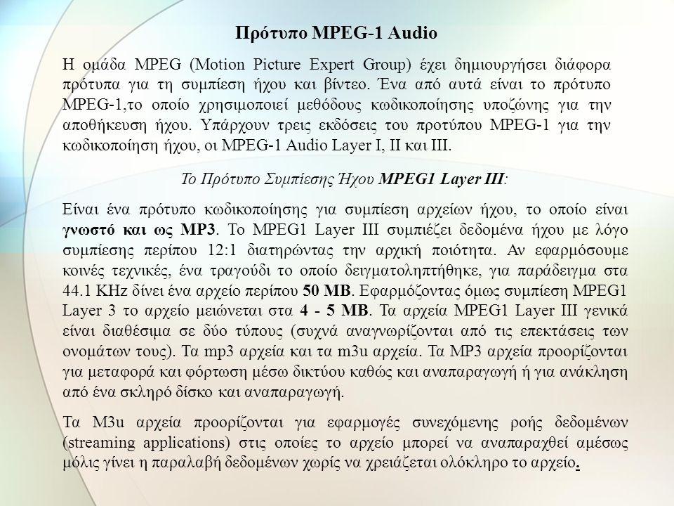 - Απόρριψη πληροφοριών από ήχους με συχνότητες έξω από τα όρια του φάσματος των συχνοτήτων (20 Hz – 20.000 Hz) Πλάτος Συχνότητα Σήμα κυρίαρχου ήχου Πε