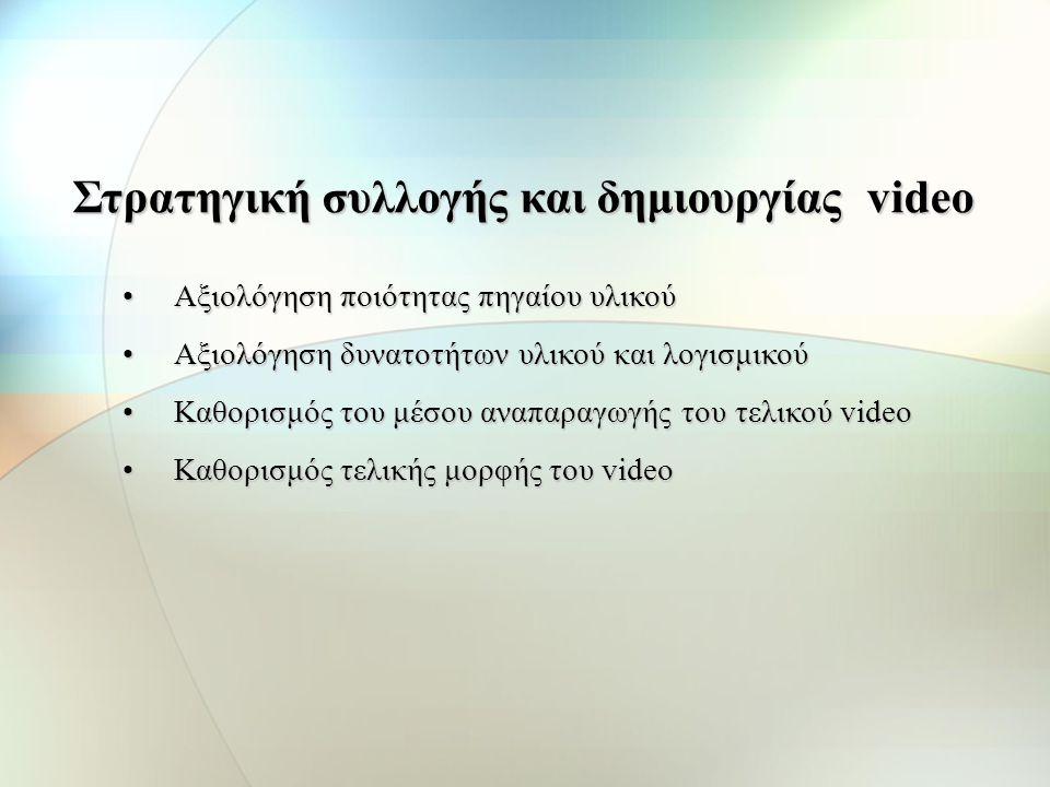 Συλλογή ψηφιακών Video clip Μέσω κάρτας σύλληψης από αναλογικό VideoΜέσω κάρτας σύλληψης από αναλογικό Video Μέσω κάρτας σύλληψης με τηλεοπτικό δέκτη,
