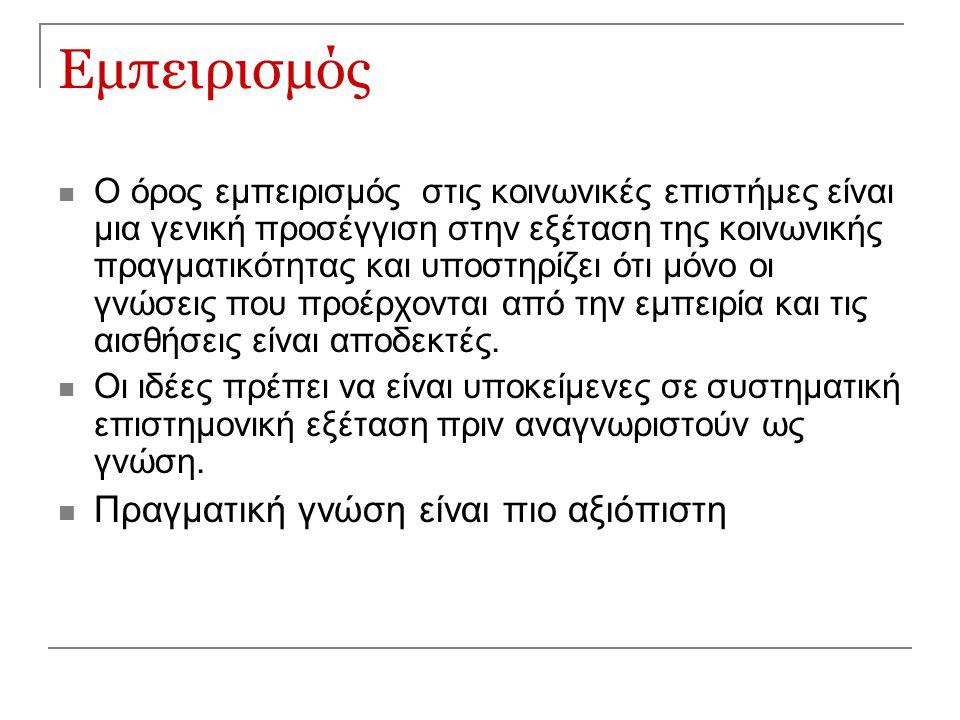 Οι θεωρίες και οι μέθοδοι τους Δομισμός/ Λειτουργισμός Δομική θεωρ.