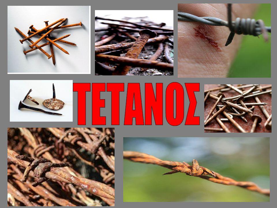 Γενικά : Ο Τέτανος είναι μια λοιμώδης ασθένεια η οποία προκαλείται από το βακτήριο Kλωστρίδιο του τετάνου, το οποίο παράγει την νευροτοξίνη Τετανοσπασμίνη, η οποία προκαλεί τα πρωταρχικά συμπτώματα της ασθένειας.