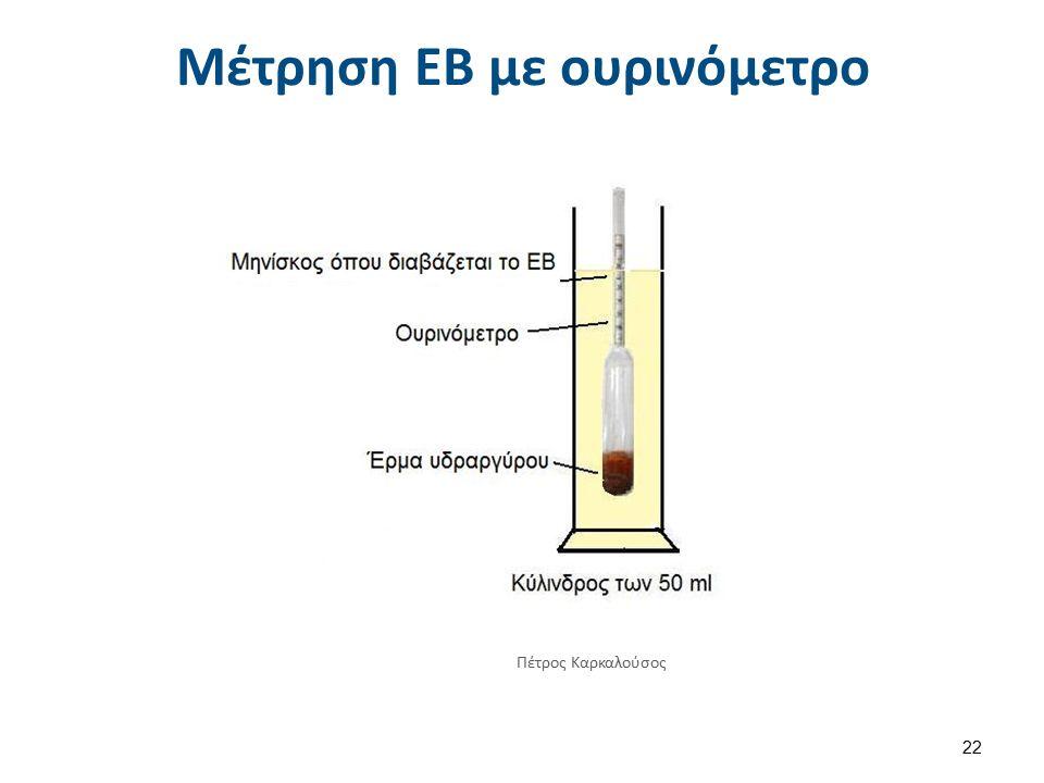 Μέτρηση ΕΒ με oυρινόμετρο Πέτρος Καρκαλούσος 22