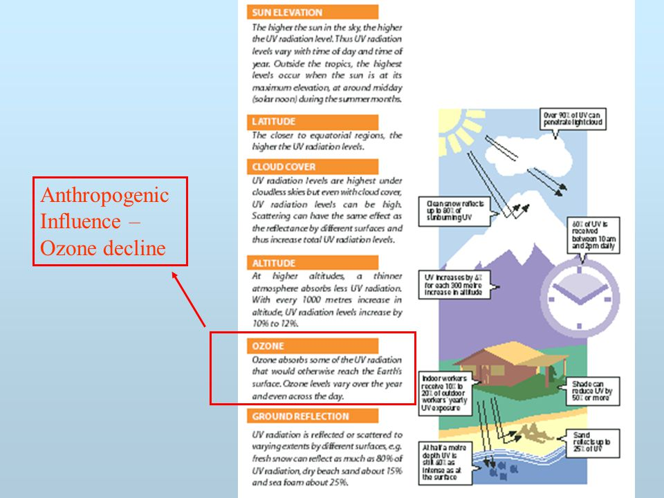 Anthropogenic Influence – Ozone decline