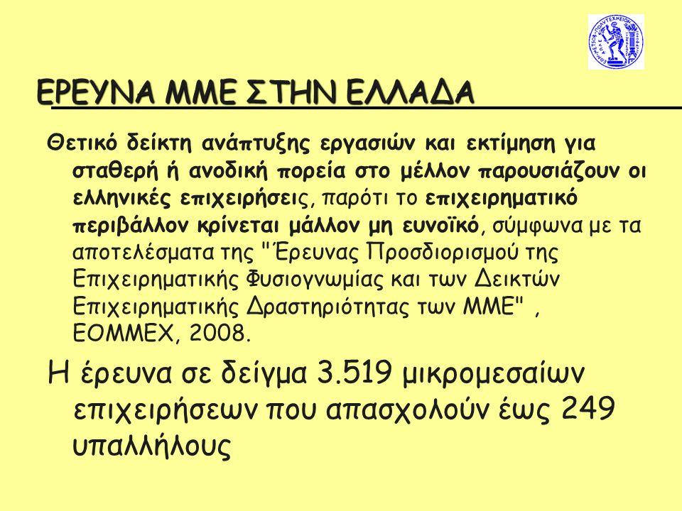 EΡΕΥΝΑ ΜΜΕ ΣΤΗΝ ΕΛΛΑΔΑ Θετικό δείκτη ανάπτυξης εργασιών και εκτίμηση για σταθερή ή ανοδική πορεία στο μέλλον παρουσιάζουν οι ελληνικές επιχειρήσεις, π
