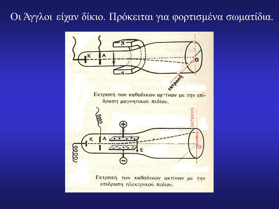 To 1879 ο Άγγλος William Crookes ανακάλυψε τις καθοδικές ακτίνες. Οι περισσότεροι Άγγλοι, σε αντίθεση με τους άλλους Ευρωπαίους, πιστεύουν ότι πρόκειτ