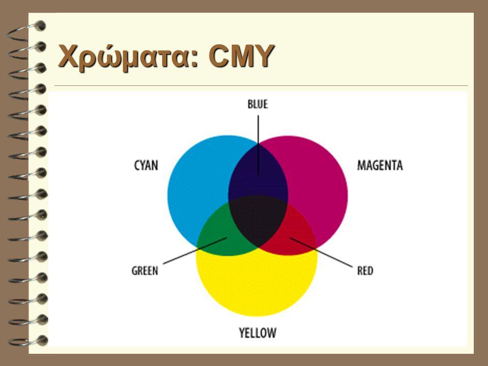 Χρώματα: CMY