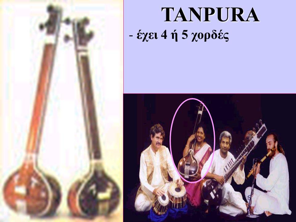 TANPURA - έχει 4 ή 5 χορδές