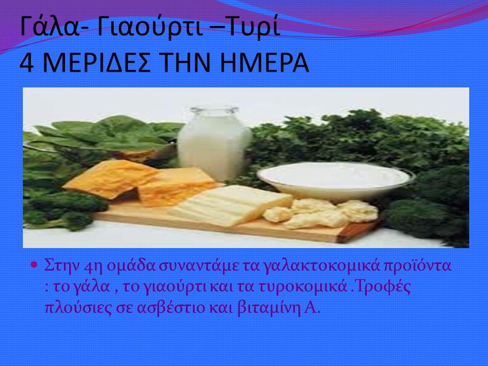 Λίπη –Έλαια –Ζάχαρη ΜΙΚΡΗ ΠΟΣΟΤΗΤΑ Στην 5η ομάδα περιλαμβάνει τα γλυκά, τη ζάχαρη, τα λίπη και τα έλαια.