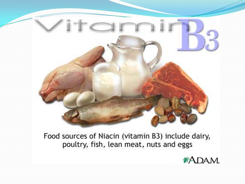 Βιταμίνη Β3 ή Νιασίνη Σε τι χρησιμεύει: 1) Απαλλάσσει το σώμα μας από τοξίνες και προστατεύει από μολύνσεις. 2) Βοηθά στην κυτταρική αναπνοή 3) Αυξάνε