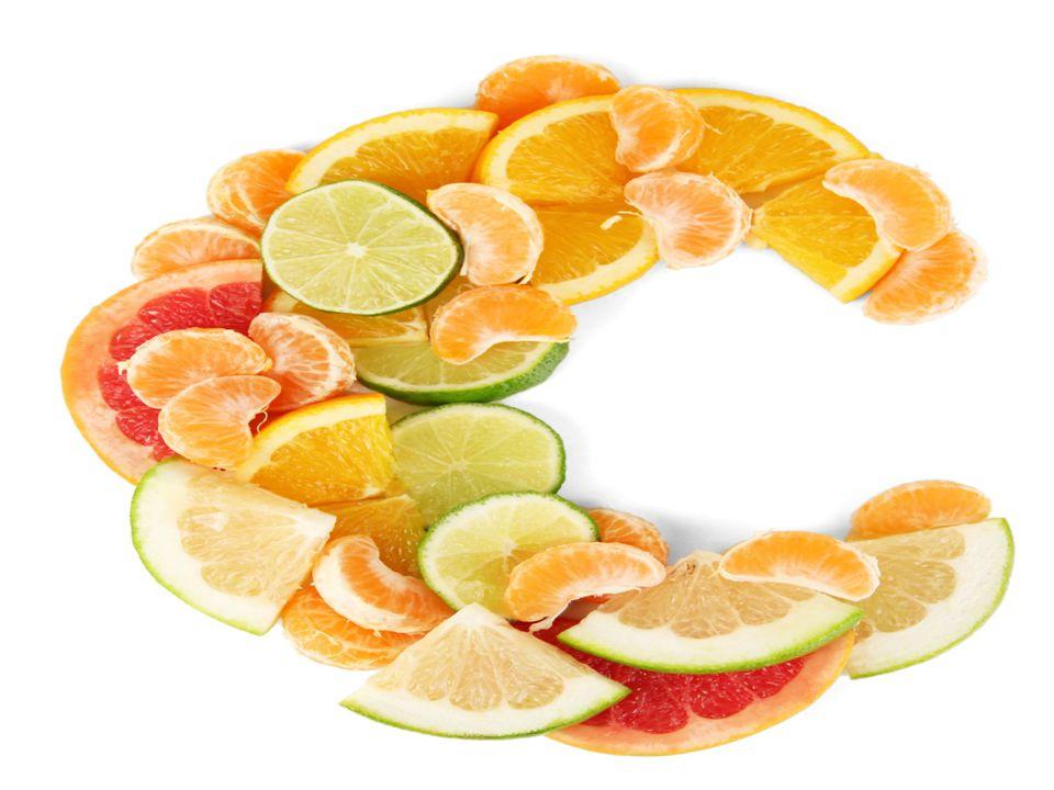 Βιταμίνη C ή Ασκορβικό Οξύ Σε τι χρησιμεύει: 1) Σημαντική για τη δομή των οστών, των χόνδρων, των μυών και των αιμοφόρων αγγείων. 2) Βοηθά στη διατήρη