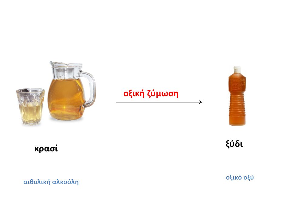 κρασί αιθυλική αλκοόλη ξύδι οξικό οξύ οξική ζύμωση