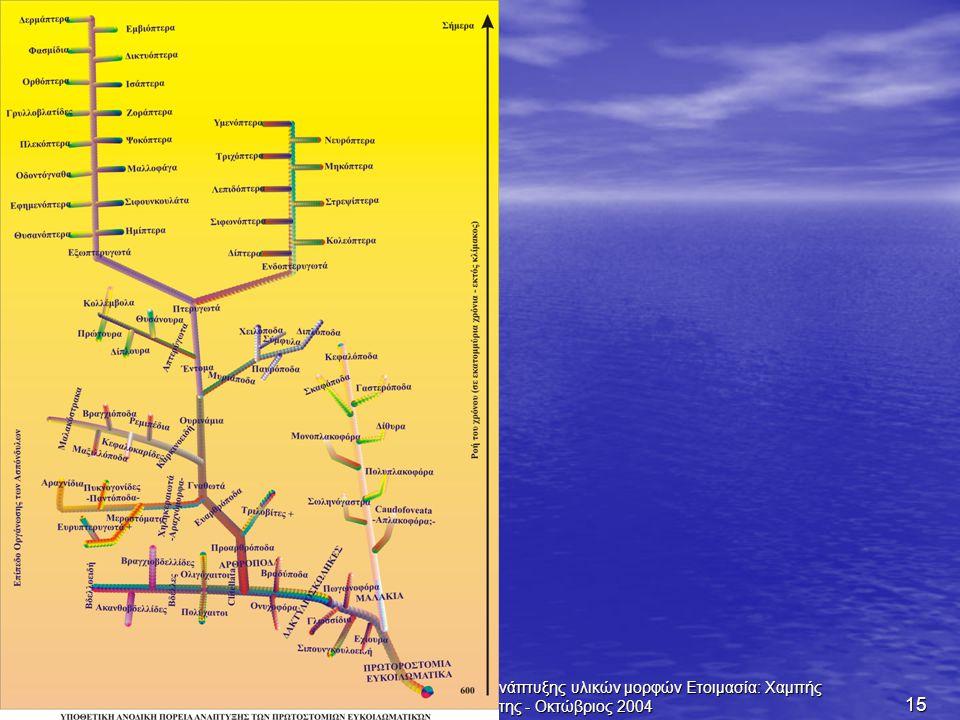 Τίτλος Διαφανειών: Πορείες Ανάπτυξης υλικών μορφών Ετοιμασία: Χαμπής Κιατίπης - Οκτώβριος 2004 15