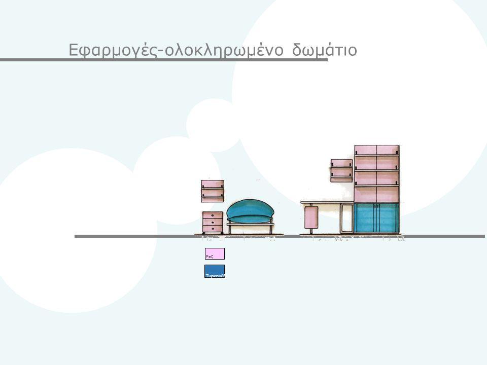 Εφαρμογές-ολοκληρωμένο δωμάτιο Pοζ Τυρκουάζ