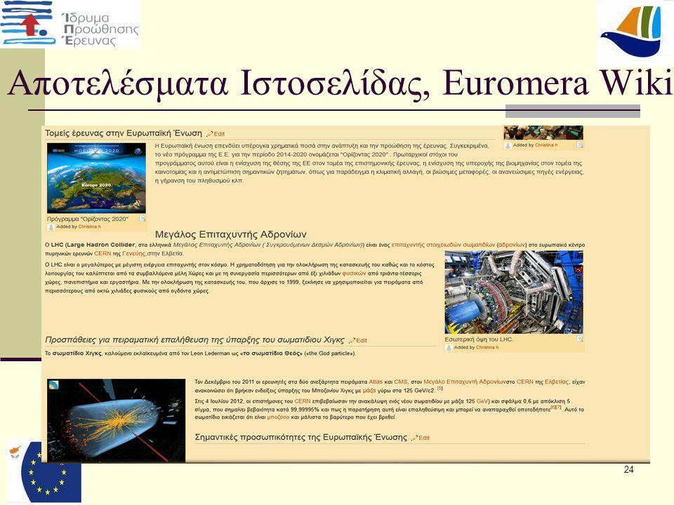24 Αποτελέσματα Ιστοσελίδας, Euromera Wiki