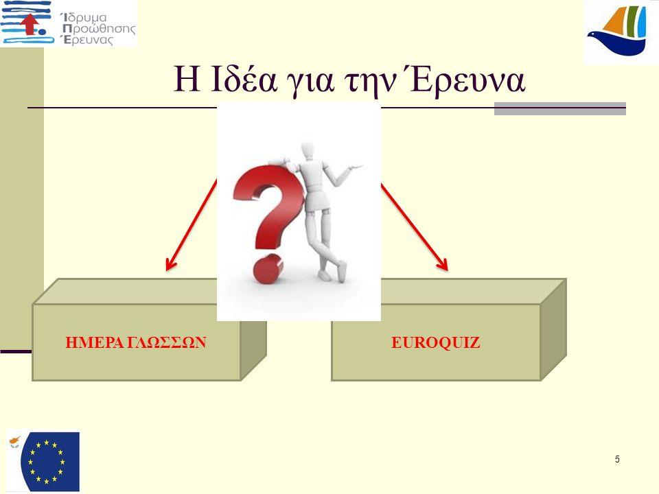 5 H Ιδέα για την Έρευνα EUROQUIZΗΜΕΡΑ ΓΛΩΣΣΩΝ