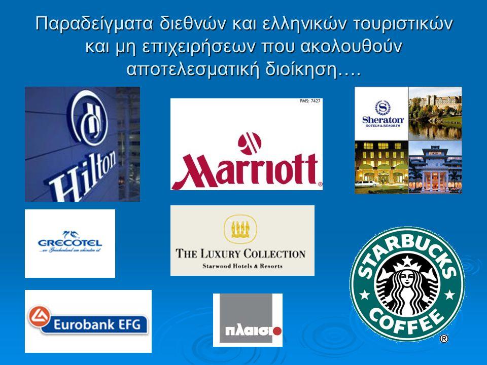 Παραδείγματα διεθνών και ελληνικών τουριστικών και μη επιχειρήσεων που ακολουθούν αποτελεσματική διοίκηση….