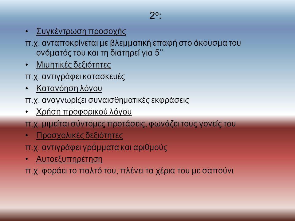 2 ο : Συγκέντρωση προσοχής π.χ.
