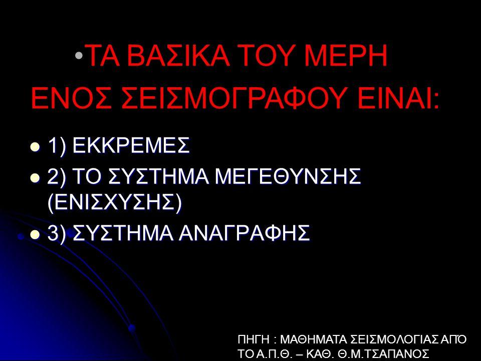 1) ΕΚΚΡΕΜΕΣ 1) ΕΚΚΡΕΜΕΣ 2) ΤΟ ΣΥΣTΗΜΑ ΜΕΓΕΘΥΝΣΗΣ (ΕΝΙΣΧΥΣΗΣ) 2) ΤΟ ΣΥΣTΗΜΑ ΜΕΓΕΘΥΝΣΗΣ (ΕΝΙΣΧΥΣΗΣ) 3) ΣΥΣΤΗΜΑ ΑΝΑΓΡΑΦΗΣ 3) ΣΥΣΤΗΜΑ ΑΝΑΓΡΑΦΗΣ ΤΑ ΒΑΣΙΚΑ