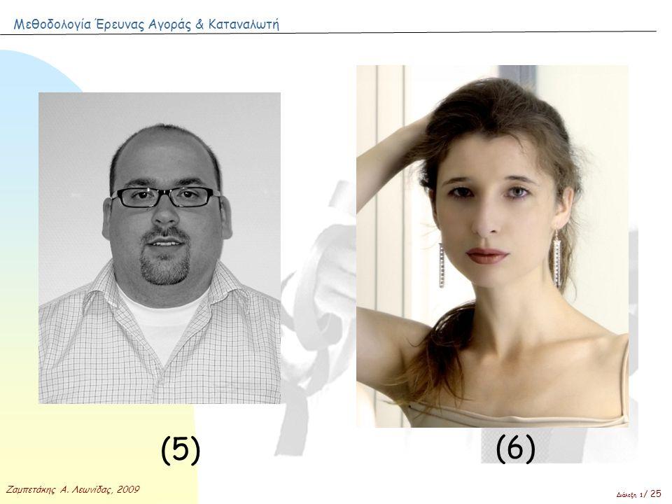 Μεθοδολογία Έρευνας Αγοράς & Καταναλωτή Ζαμπετάκης Α. Λεωνίδας, 2009 Διάλεξη 1 / 25 (5) (6)