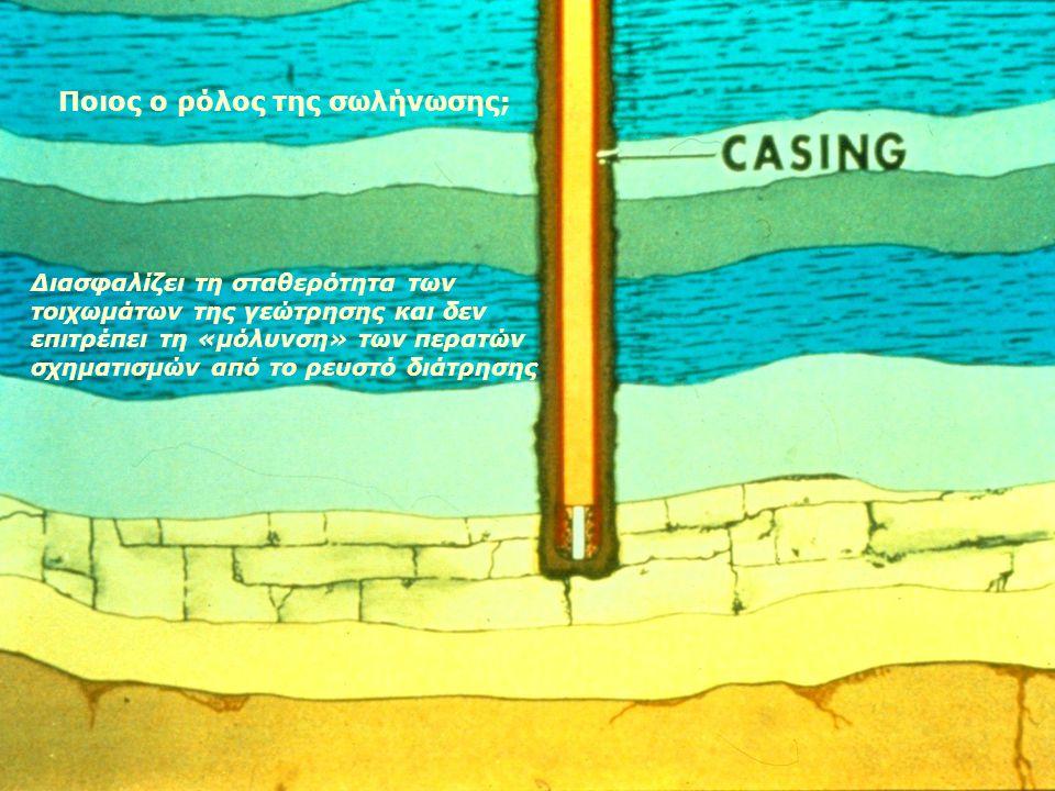 Τα ρευστά των σχηματισμών επηρεάζουν την όρυξη μιας γεώτρησης; Κατά τη διέλευση της γεώτρησης από υδροφόρα στρώματα, ρευστά από κατώτερους ορίζοντες δ