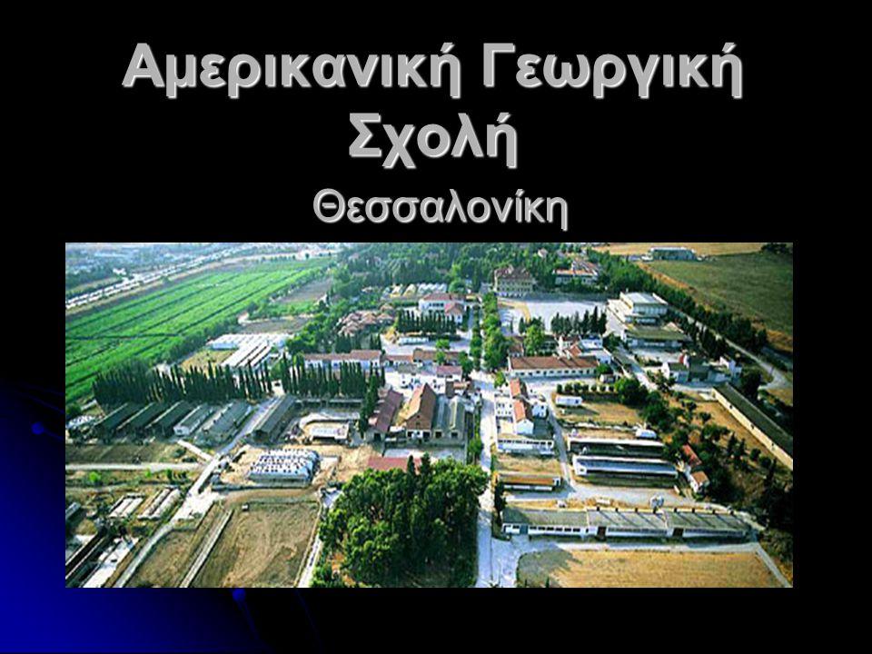 Αμερικανική Γεωργική Σχολή Λειτουργούν : Γενικό Λύκειο (ΓΕΛ) Επαγγελματικό Λύκειο (ΕΠΑΛ) Επαγγελματική Σχολή (ΕΠΑΣ)