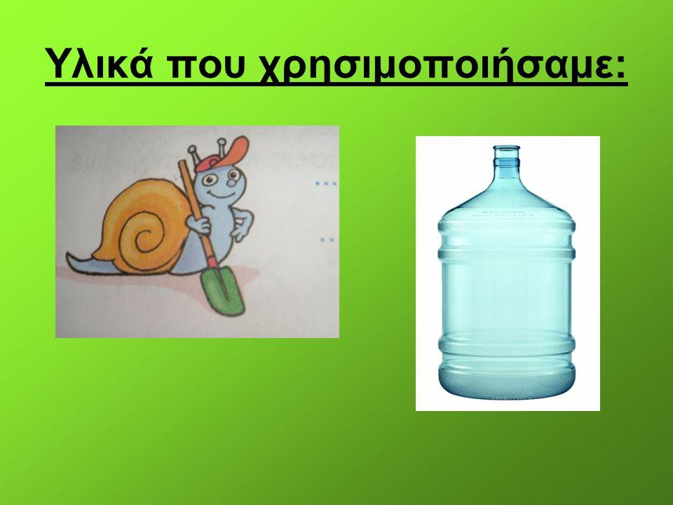 Terrarium: Βιοτικοί παράγοντες: Σαρανταποδαρούσα Διπλόποδα (2) Σκαθάρια (2) Γαιοσκώληκας Τερμίτες (20) Αβιοτικοί παράγοντες: Χώμα Πέτρες Νεκρή ύλη: Φύλλα Χόρτα (τριφύλλι)