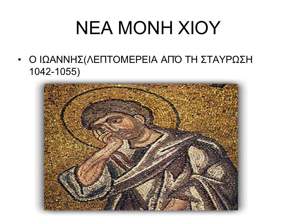 ΝΕΑ ΜΟΝΗ ΧΙΟΥ Ο ΙΩΑΝΝΗΣ(ΛΕΠΤΟΜΕΡΕΙΑ ΑΠΌ ΤΗ ΣΤΑΥΡΩΣΗ 1042-1055)