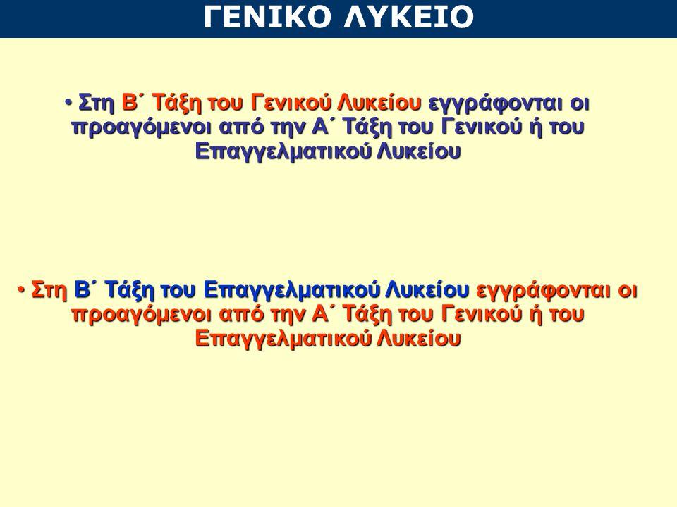 ΓΕΝΙΚΟ ΛΥΚΕΙΟ Βαθμός 1 Βαθμός Πανελλαδικώς Εξεταζόμενου Μαθήματος 1 Βαθμός 2 Βαθμός Πανελλαδικώς Εξεταζόμενου Μαθήματος 2 Βαθμός 3 Βαθμός Πανελλαδικώς Εξεταζόμενου Μαθήματος 3 Βαθμός 4 Βαθμός Πανελλαδικώς Εξεταζόμενου Μαθήματος 4 Βαθμός 5 Βαθμός Προαγωγής και Απόλυσης (αναπροσαρμογή ) * Για τον υπολογισμό του Βαθμού Πρόσβασης στην Τριτοβάθμια Εκπαίδευσης, προσμετράται και ο Βαθμός Προαγωγής και Απόλυσης (ΒΠΑ) μετά από την αναπροσαρμογή του, εάν χρειάζεται, όπως φαίνεται στις διαφάνειες που ακολουθούν