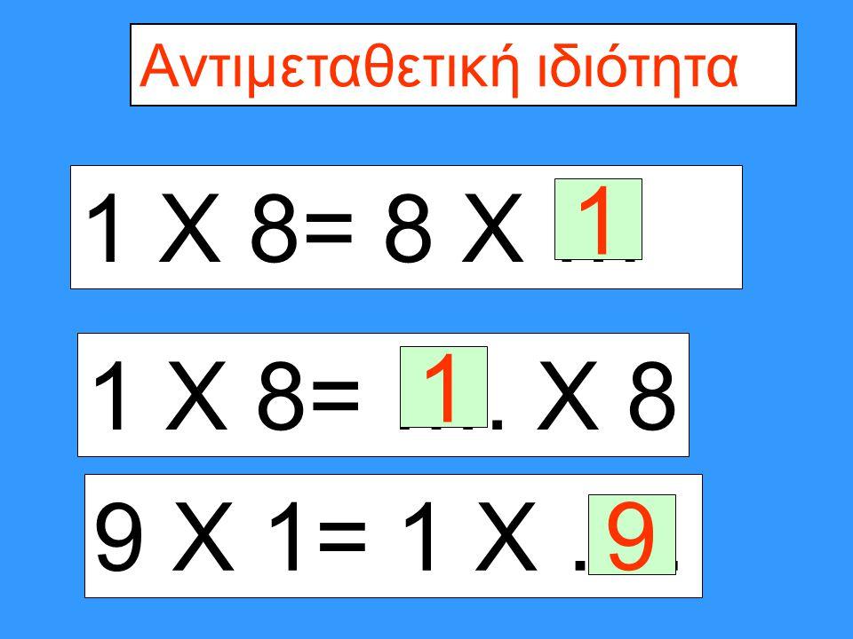 4 Χ 1= 1 Χ 1 Χ 5 =5 Χ …. 1 Χ 5= …. Χ 1 5 1 4 Χ 1= 1 Χ …. 4