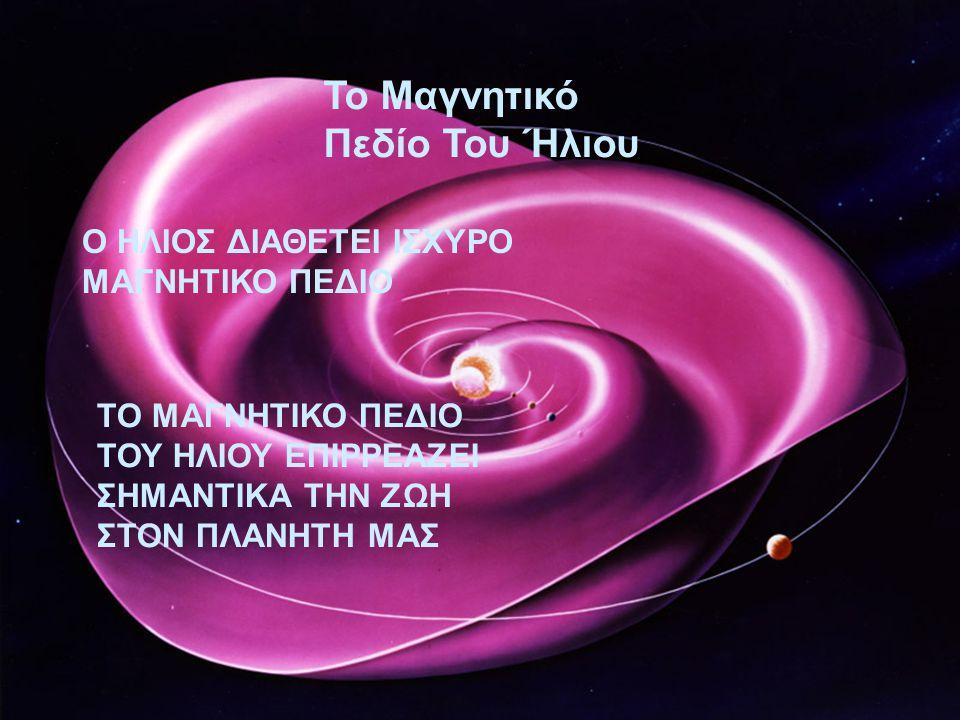 Το Μαγνητικό Πεδίο Του Ήλιου Ο ΗΛΙΟΣ ΔΙΑΘΕΤΕΙ ΙΣΧΥΡΟ ΜΑΓΝΗΤΙΚΟ ΠΕΔΙΟ ΤΟ ΜΑΓΝΗΤΙΚΟ ΠΕΔΙΟ ΤΟΥ ΗΛΙΟΥ ΕΠΙΡΡΕΑΖΕΙ ΣΗΜΑΝΤΙΚΑ ΤΗΝ ΖΩΗ ΣΤΟΝ ΠΛΑΝΗΤΗ ΜΑΣ