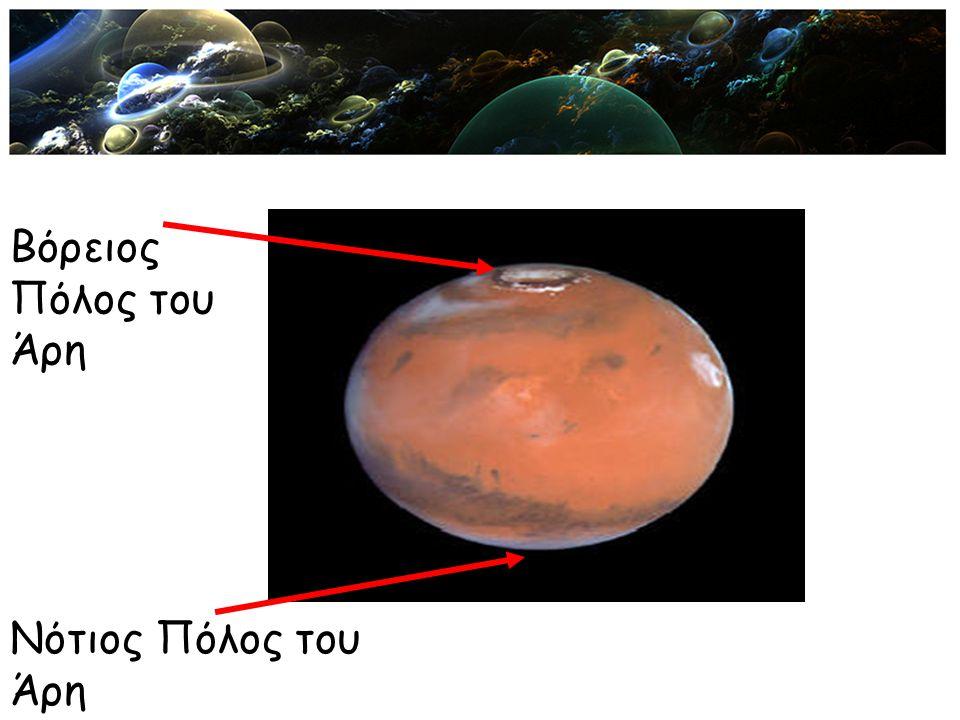 Νότιος Πόλος του Άρη Βόρειος Πόλος του Άρη