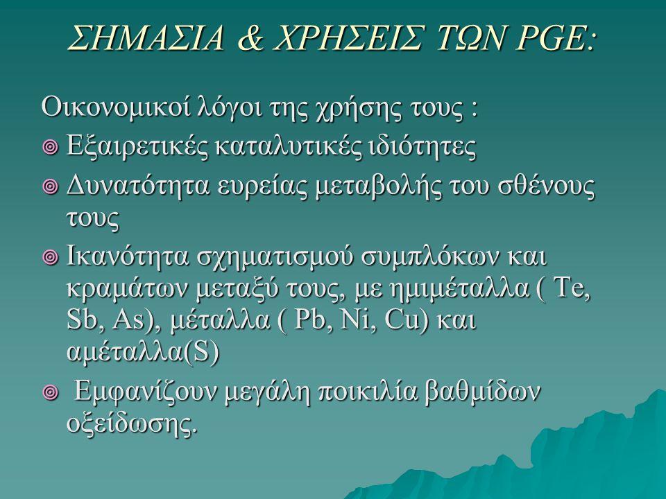 ΟΡΥΚΤΟΛΟΓΙΑ (PGM) Τα οφειολιθικά πετρώματα στον ελλαδικό χώρο με παράταξη γενικά ΒΒΔ - ΝΝΑ (Διναρική διεύθυνση) συνιστούν τρεις ομάδες:  Αυτά που βρίσκονται δυτικά της Πελαγονικής, στις ζώνες Υποπελαγονική και Πίνδου, όπου καλύπτονται σε μεγάλη έκταση από μολασσικά ιζήματα της Μεσoελληνικής αύλακας (ορεινές μάζες Πίνδου και Όθρυος), πάνω στην Πελαγονική (Bούρινος) και ανατολικά αυτής (Βέρμιο, Βέροια, ανατολική Θεσσαλία).