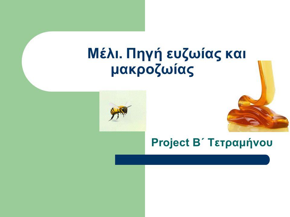 Μέλι. Πηγή ευζωίας και μακροζωίας Project Β΄ Τετραμήνου