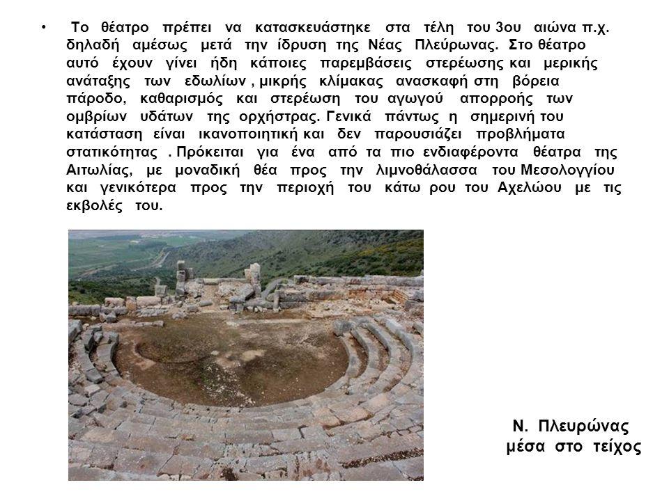 Το θέατρο πρέπει να κατασκευάστηκε στα τέλη του 3ου αιώνα π.χ. δηλαδή αμέσως μετά την ίδρυση της Νέας Πλεύρωνας. Στο θέατρο αυτό έχουν γίνει ήδη κάποι
