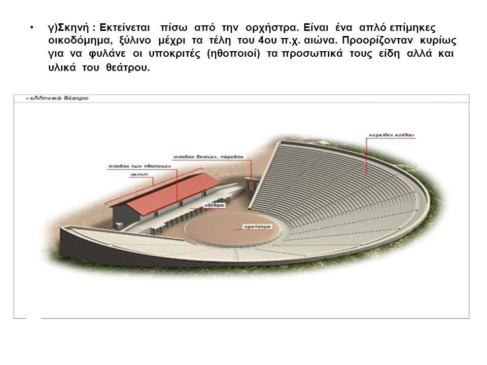 Σε κακή κατάσταση διατηρείται το σχοινικό οικοδόμημα και είναι ορατά μόνο τα θεμέλια του προσκηνίου συνολικού μήκους 21,89 μέτρα και των προσκηνίων διαστάσεων 5μ.× 5,62μ.