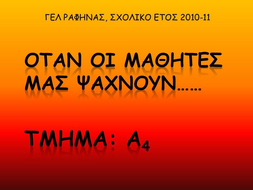 ΓΕΛ ΡΑΦΗΝΑΣ, ΣΧΟΛΙΚΟ ΕΤΟΣ 2010-11