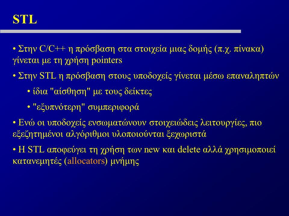 STL Στην C/C++ η πρόσβαση στα στοιχεία μιας δομής (π.χ.